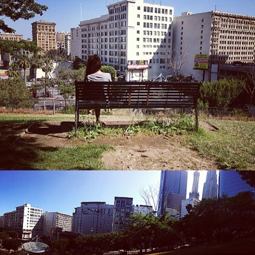 500 Days of Summer's bench. ❤🌇🌆 (at Tom Hansen's Bench (500 Days of Summer))