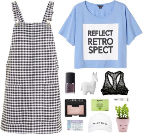 polyvore fashion style Topshop Monki Cosabella Balenciaga NARS Cosmetics NYX Lancôme New Look Torre & Tagus clothing