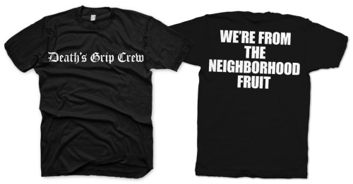 legionshc:  deathsgrip:  FIRST EVER DEATH'S GRIP SHIRT HOMIE, STRAIGHT UP RIP FROM THE INFAMOUS ONE LIFE CREW. AVAILABLE FOR PURCHASE OVER AT http://deathsgrip.bandcamp.com/merch/deaths-grip-olc-rip-tee BECAUSE I AM A DEADSET MAD CUNT, I AM GIVIN YA ASS THE CHANCE TO WIN ONE OF THESE FINE PIECES OF HEAD TURNING, GANG RELATED APPAREL IN THE SIZE OF YOUR CHOOSING. ALL YOU GOTTA DO IS REBLOG THIS BAD BOY AND FOLLOW THIS BLOG. COMPETITION ENDS ON THE 30TH OF MAY. DO IT UP HATER  reblog and win some free stuff!