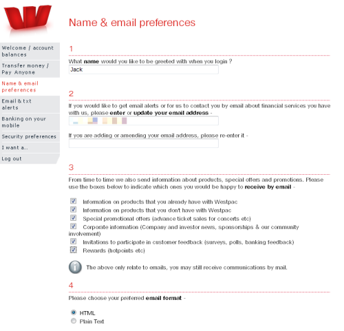 You can't bank on the Wales Wow, incredibly dumb move, Westpac. I never opted in to your spam lists, and now I find you have done so for me, in every category. What the heck? I know I never opted in, because I usually ask for this stuff in plain text. Considering your first-ever spam arrived today, and one of my companies became your customer in 2006, I'm sure that this decision to spam people was a recent move on your part.   Why would I ask for information on products I don't have with you, or, for that matter, rewards?   I've deleted my email address from your system as well, and, yes, I do feel strongly enough about this that I'll consider closing my accounts.   I can't believe I wasted my 5,000th Tumblr post on you, but, there you have it.   Clearly, computers and banks do not mix—remember, cheques took a day to clear in the mid- to late-1970s, and they take five to seven days now. Now I find a foreign bank unable to grasp some basic netiquette.