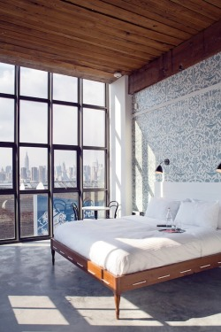 texturism:  i like it here. the wythe hotel in williamsburg | wallpaper by dan funderburgh & printed by flavor paper | via erehwyna