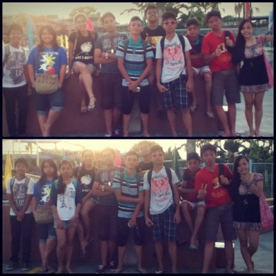 Withh my batchmates <3 #StRaphael #StBarachiel #United #Swimming #Volets #Fun #Enjoy <3333