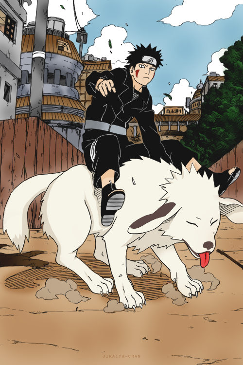 jiraiya-chan:  Colored mangacap of Kiba requested by anonymous