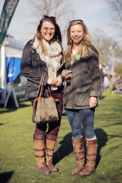 We just love how these girls have worn their Barbours, perfect for a typical British summers day!