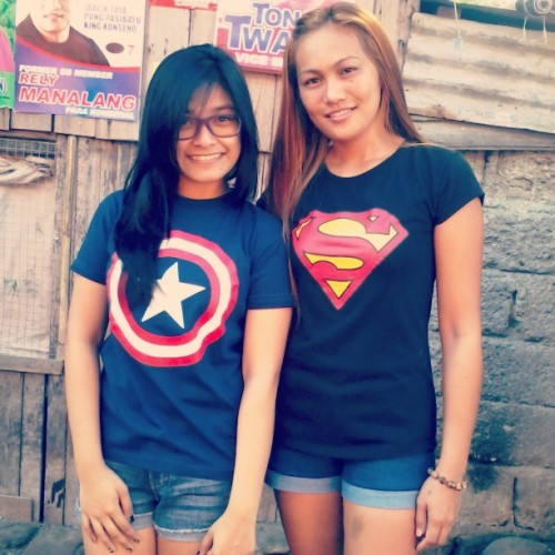 "Captain America & Superman are your heroes for the day. :"">"