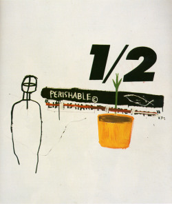 manufactoriel:  Perishable, by Jean Michel Basquiat   -