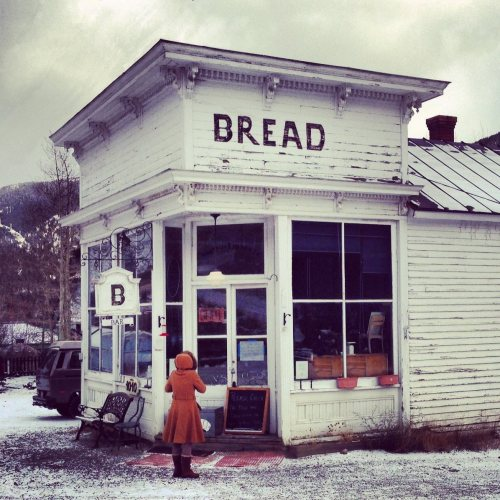 Bread Bar in Silver Plume, Colorado. If they're not open, you can leave some coin and take a loaf. Here, here to the honesty system.