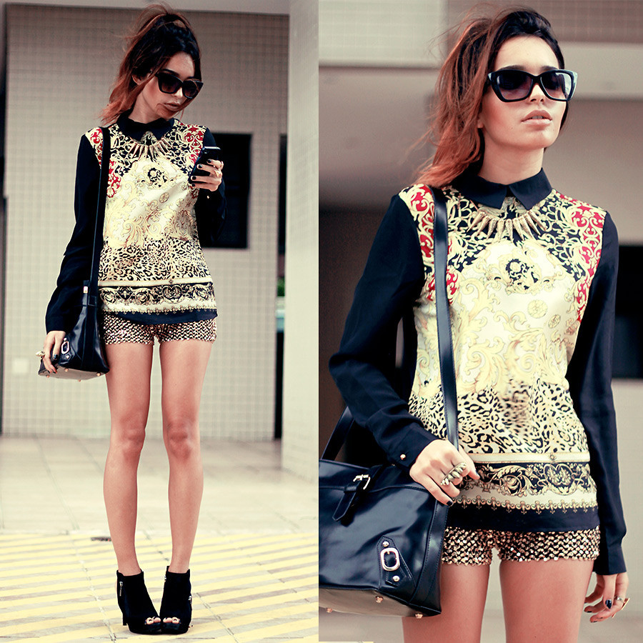 Black and Gold. (by Alana Ruas)
