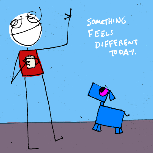 explodingdog:  something is different  Something.