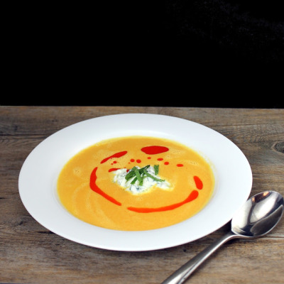 Red Curry Carrot Soup with recipe (link)
