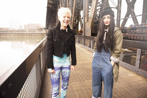 Nadia Sarwar and Megan Rapinoe from Wildfang's instagram. Sign up at Wildfang.com to get more tomboy inspiration. Photographs by the talented Lindsey Byrnes.