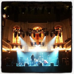 Finally get to play in this amazing hall tonight…Paradiso, Amsterdam. #soundcheck #brmc #transferband #transferbandtour  (at Paradiso)