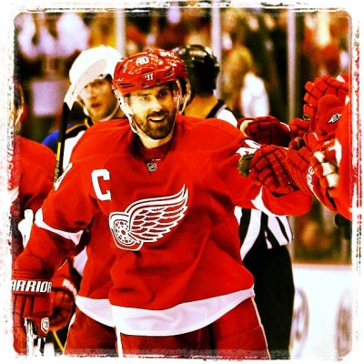 The captain doing work! Game 7 on Sunday! #GoWings #HenrikZetterberg #DetroitRedWings