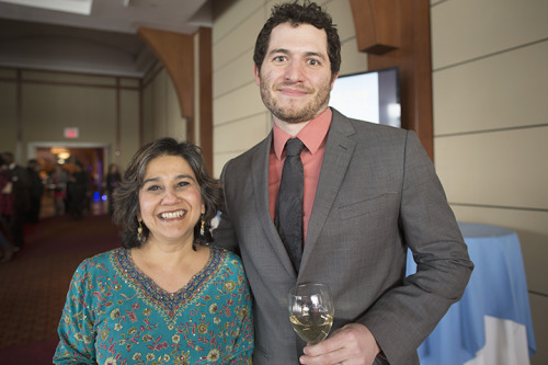 Here's Mallika with Alex at the North Star Fund annual gala last night where she was honored for her more than 30 years of work of advancing human rights for women and girls. -Nadia