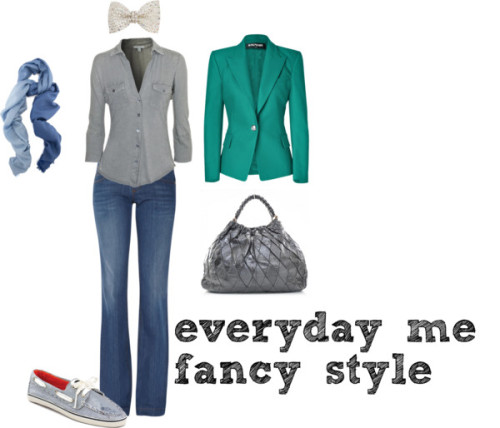 fancy style me by apps featuring pearl hair accessoriesBalmain  jacket / Gucci  jeans / Sperry Top-Sider  shoes / Pashmina scarve / Dorothy Perkins pearl hair accessory