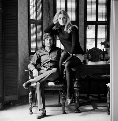 lovesharontate:  Roman Polanski and Sharon Tate, 1968. Photo by Terry O'Neill