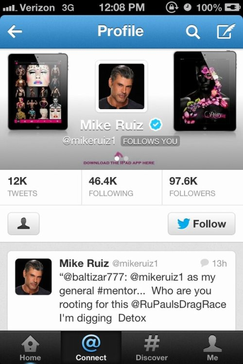 di0rio:  Guys. Mike Ruiz fucking followed me on Twitter. MIKE RUIZ. THE MIKE RUIZ.  HE DID THE SAME TO ME!!!!!!!!!!!!!!!