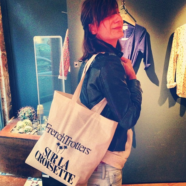 @_bepi_ very chic with our excusive #Cannes #filmfestival #totebag! #FrenchTrotters #flagshipstore #Paris #Marais #croisette  (à Flagship FrenchTrotters)