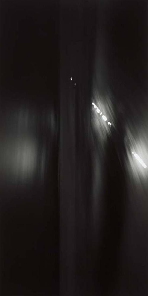 "arpeggia:  Hiroshi Sugimoto - Revolution, 1990 | More posts Click on each image for details. ""The point of departure for Revolution is a nocturnal seascape. A 90° clockwise rotation turns the horizons into vertical lines, dissipating the romantic image of the night. Without changing the pictures' material substance or subject, any obvious connotations are masked, their certainties denied by the transformation. At the same time, highly original abstract configurations emerge in their place. But it is finally the presence of the aesthetic which Sugimoto so forcefully brings to light in his new work. The process derives from conventional puzzles, but reveals in this case no new narrative moments, leading instead to hermetic compositions reminiscent of the work of American painters such as Barnett Newman."" [Museum Brandhorst]"