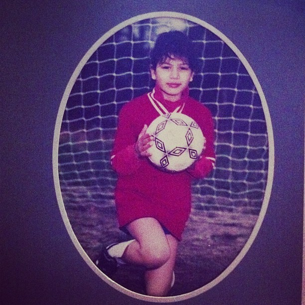 Former soccer ball model #tbt