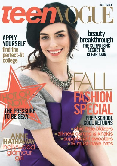 From Les Mis star Anne Hathaway to the leading ladies of Gossip Girl, look back at all the covers of Teen Vogue »