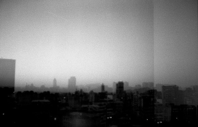 Cityscape (double exposure) on Flickr.Olympus Trip 35, Arista EDU Ultra 200@400