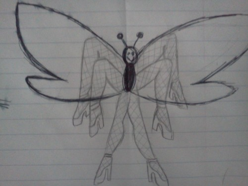 My friend drew a butterfly but forgot the legs so I took it upon myself to give it some.