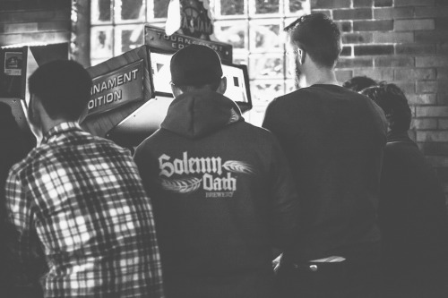 SOLEMN OATH + LAGUNITAS LEVEL UP AT EMPORIUM One of Chicago's best new breweries takes over the taps alongside one of Chicago's future giants at the Emporium arcade bar — and we all get an extra life out of it.