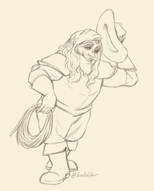 sketch trade with @nossik !!!! svitovyd seems like such a charming cowboy i love him