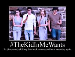potentiallyawesomehashtags:  #TheKidInMeWants  For Facebook today has become more like some 2am infomercials.
