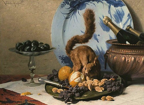 Edouard Vandenbosch  Feet on the Plate 1876