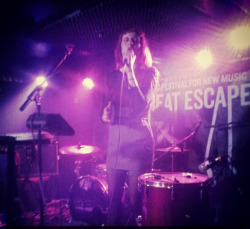 My first show in UK ! So Cool <3 Thanks at the Great Escape !