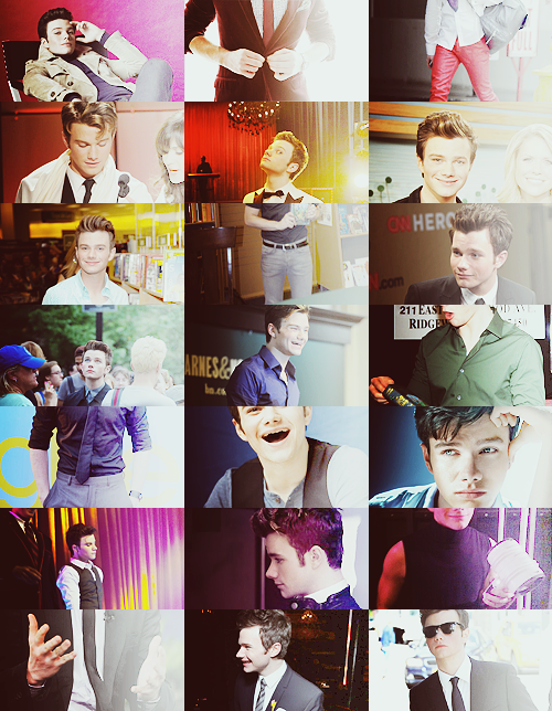 Chris Colfer + Rainbow