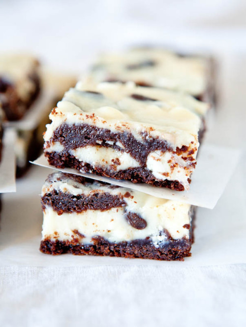 white and dark chocolate cream cheese chocolate cake bars: recipe here