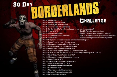thelittleststarcatcher:  For the 30 Day Borderlands challenge. Credit goes to laranraeki for creating the original.