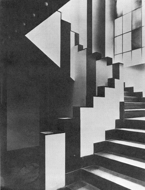 reaktorplayer:  JEAN ARP AND SOPHIE TAEUBER-ARP - STAIRWAY IN THE CAFÉ AUBETTE IN STRASBOURG, 1928