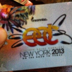 Going back in tonight if you're there hmu! (at EDC NYC 2013)