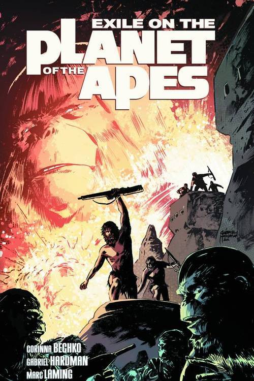 Market Monday Exile on Planet of the Apes TP, co-written by Corinna Bechko  Ape society is evolving, yet not all primates are considered equal. Humans alone lack the power of speech. Two years ago, Dr. Zaius banished all humans from Ape City, launching a campaign of eradication. But one among them was taught to communicate with his hands. Now the human rebellion has begun. They don't need to speak to find their voice… Collecting the critically acclaimed series, find out what happens 18 years before the arrival of Colonel George Taylor from the original 1968 Planet of the Apes movie! Written by fan-favorites Corinna Bechko and Gabriel Hardman and drawn by red hot artist Marc Laming (The Rinse).  Shopping Options Amazon IndieBound TFAW