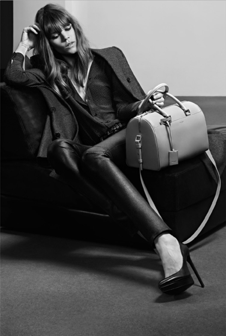 mariah-do-not-care-y:   Freja Beha for Saint Laurent Pre-Fall 2013 by Hedi Slimane