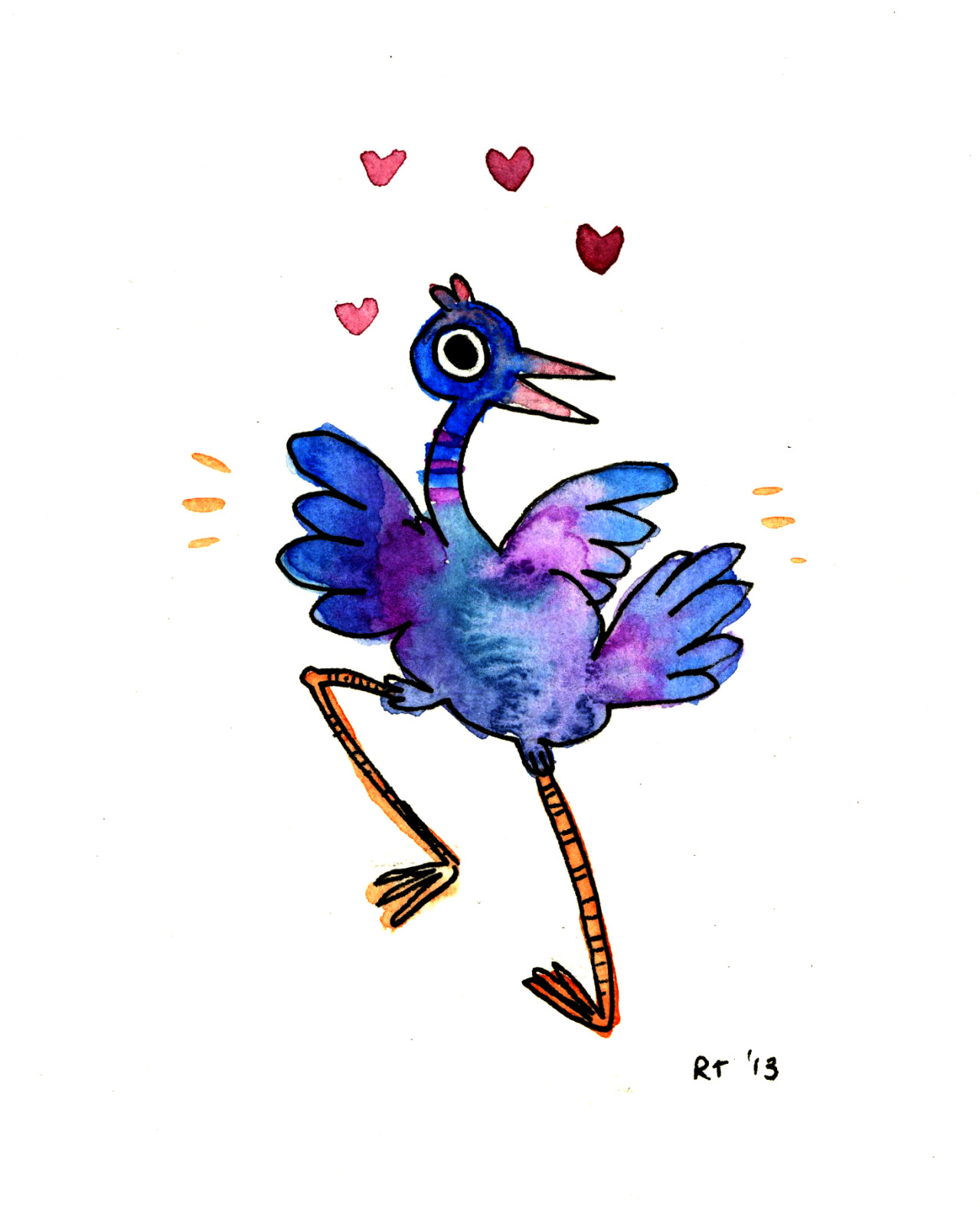 A bonus bird I drew for a commission recently.  (commission me too!)