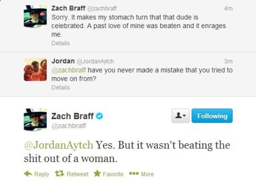 yesimheretoo:    Update: Zack Braff tweeting about Chris Brown    LOL, so on point