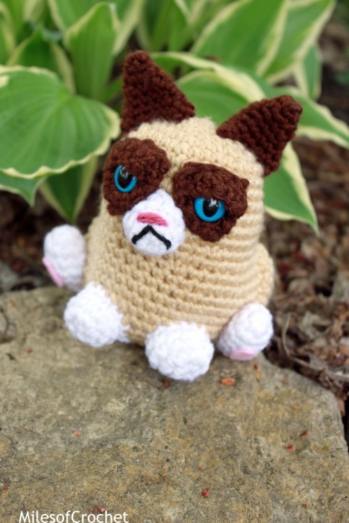 "milesofcrochet:  ""Meh…."" Buy her (or pattern) here"