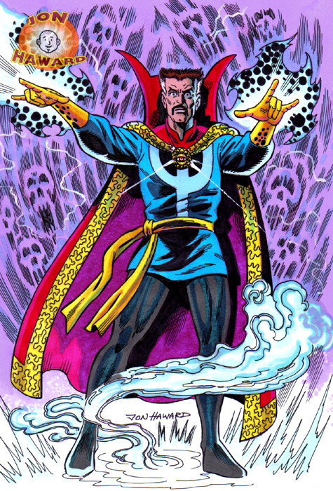 Dr. Strange retro pin-up by Jon Haward
