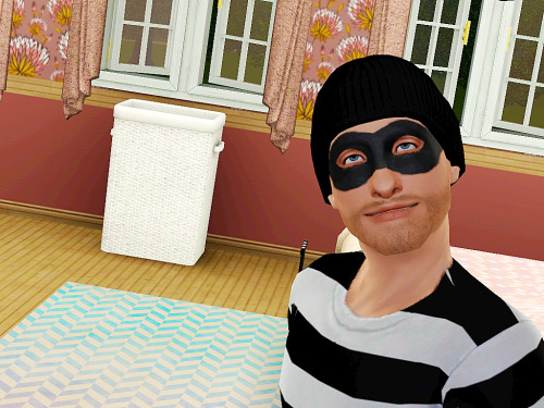 I actually thought he was a real burglar when I first saw him…