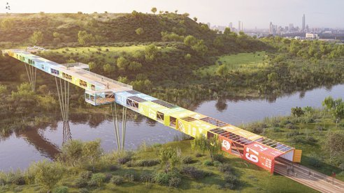 (via Bridge Being Built From Shipping Containers : TreeHugger)
