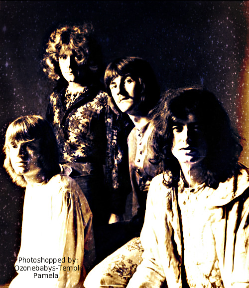 One of my 'favorite' early photos of Led Zeppelin.  source: ozonebabys-temple