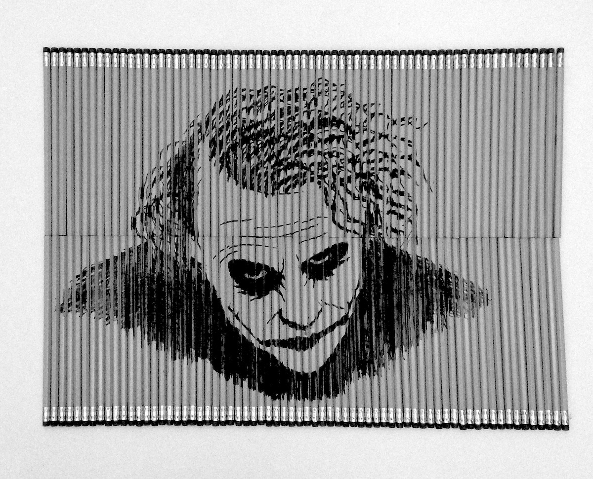 just-art:  Joker's Pencil Trick by Bashir Sultani Check out the process:   Joker rocks