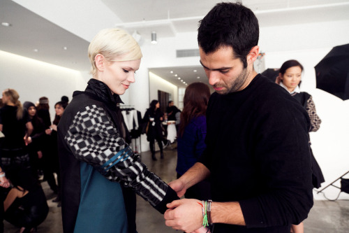 Behind the scenes at JONATHAN SIMKHAI FW13 for cityist.com Click to see more
