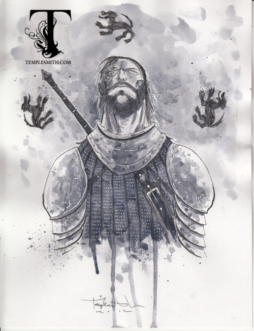 templesmith:  Yup, it's Thrones Thursday again. & this week it's THE HOUND: http://tinyurl.com/d9wg69q  Up now at 78SQUID.