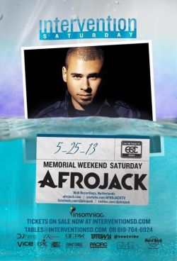 JUST RELEASED!!! Get your tickets to live the dream with Afrojack at  Intervention San Diego in the Hard Rock Hotel San Diego! http://bit.ly/InterventionHR